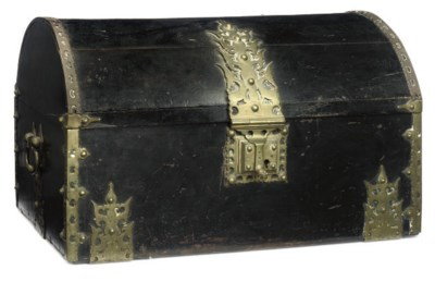 A BRASS-MOUNTED AND EBONISED H