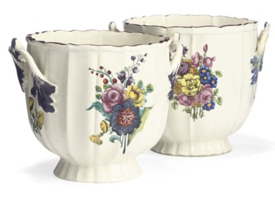 TWO CHANTILLY TWO-HANDLED BOTT