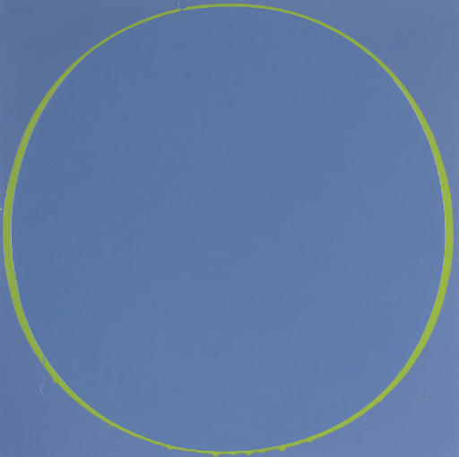 Untitled Circle Painting Purple-Blue/Green/Purple-Blue