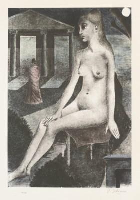 After Paul Delvaux (1897-1994)