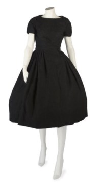 BALMAIN COUTURE, A FINE BLACK WOOL COCKTAIL DRESS