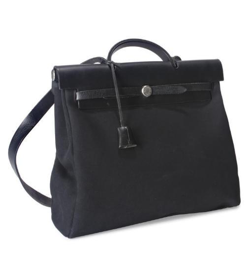 BLACK HERMES 'HER' BAG AND COV