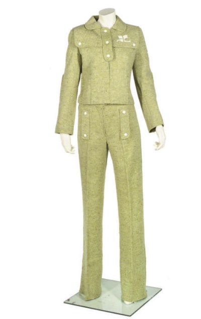 ANDRE COURREGES, FLECKED GREEN