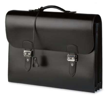 HERMÈS, A BLACK BOX LEATHER 'S