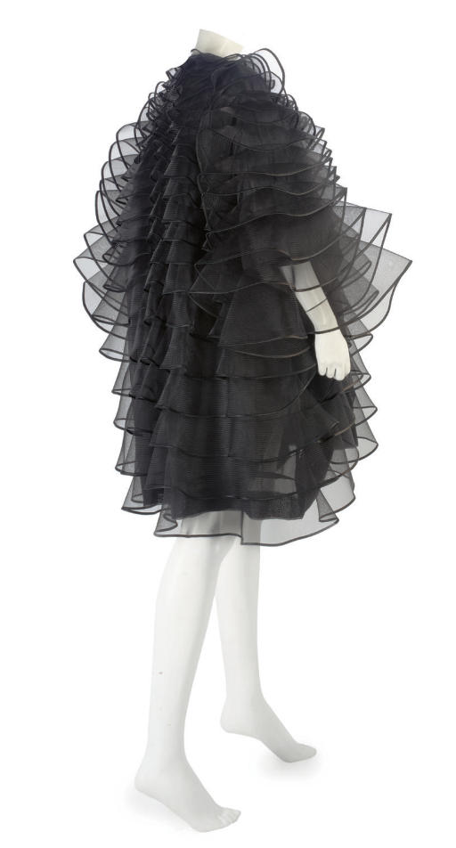 CHRISTIAN DIOR COUTURE, A DRAMATIC EVENING COAT