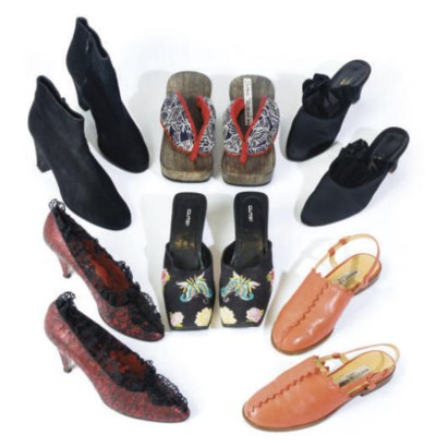A COLLECTION OF SHOES