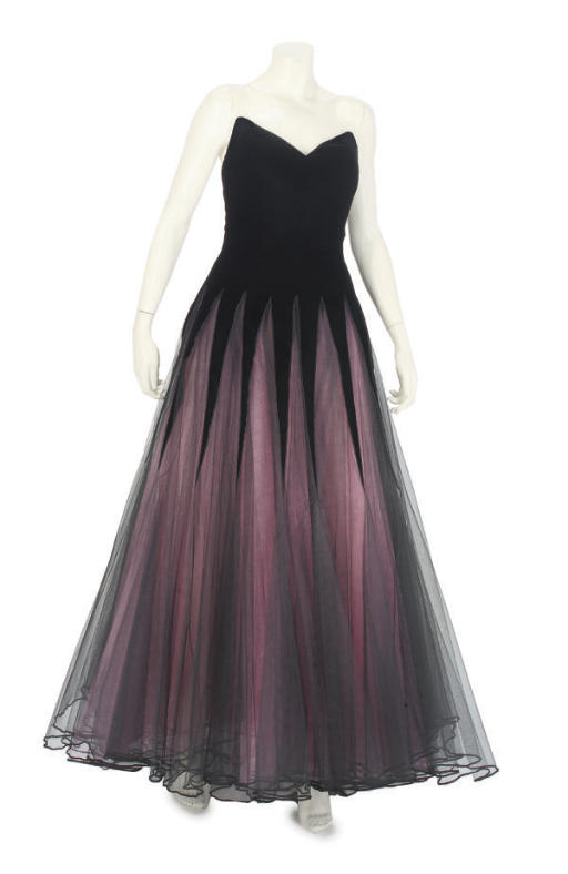 MURRAY ARBEID, A DRAMATIC EVENING GOWN, 1980s