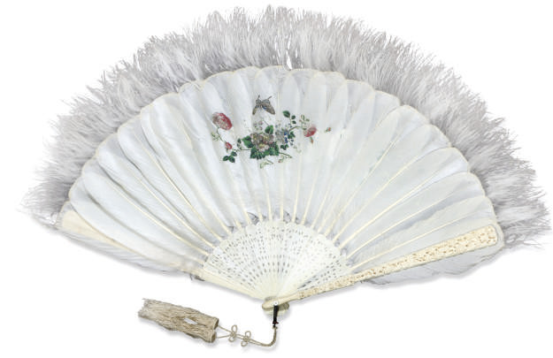 A CANTON FEATHER FAN