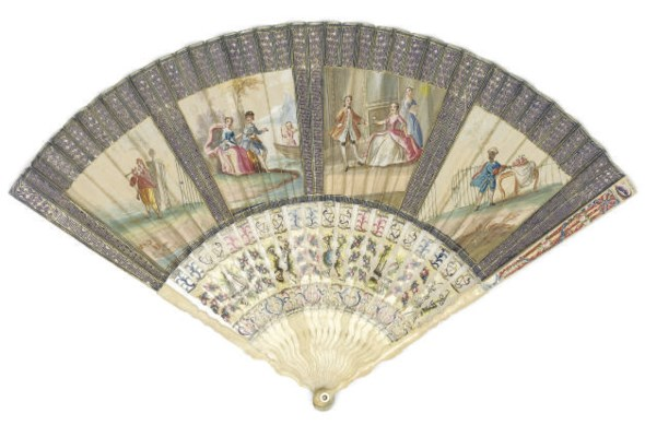 A FAN, THE PAPER LEAF PAINTED