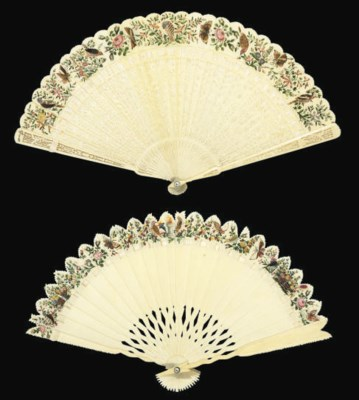 A PAIR OF BRISÉ FANS