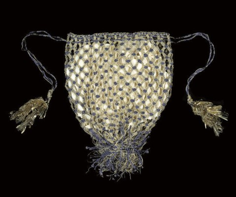 A GOLD AND PURPLE RETICULE