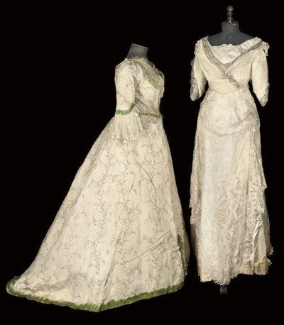 TWO WHITE GOWNS