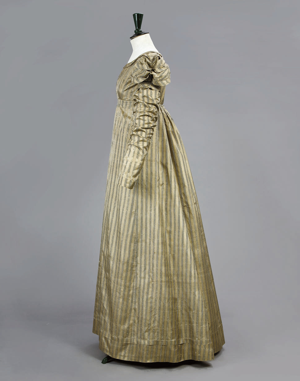 A STRIPED GOWN