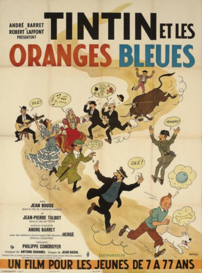 Tintin Et Les Oranges Bleues