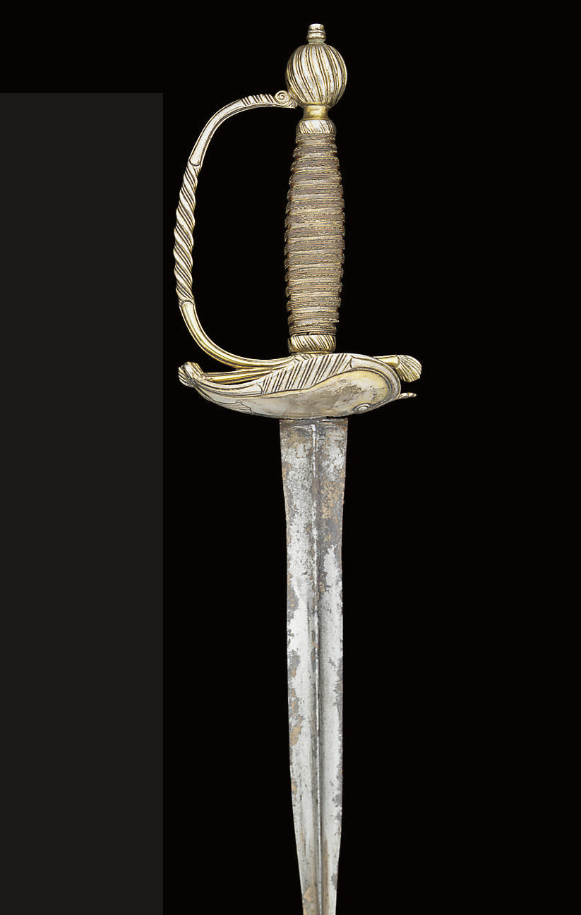 A SILVER-GILT SMALL-SWORD; AND