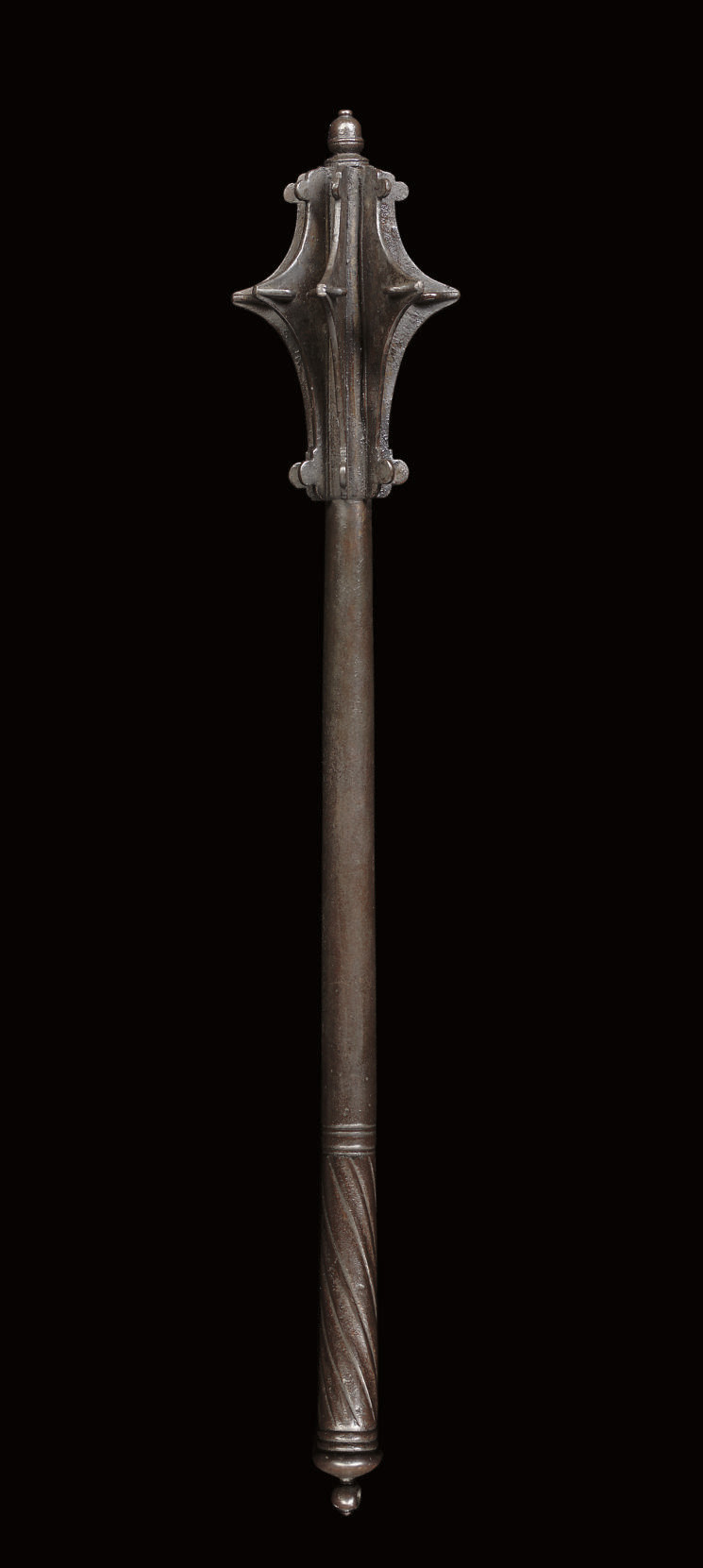 A GERMAN SEVEN-FLANGED MACE