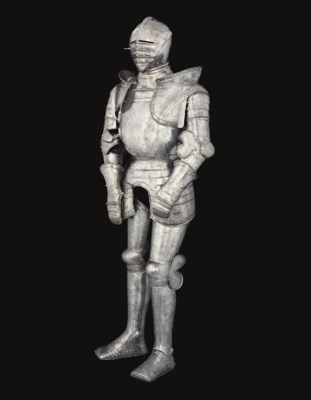A FINE ETCHED FULL ARMOUR IN T