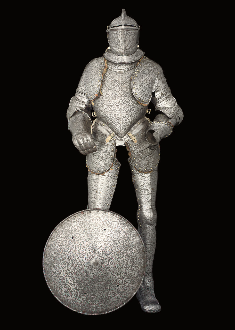 AN ETCHED FULL ARMOUR IN LATE