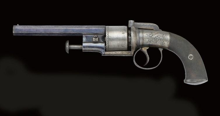 A 60-BORE PERCUSSION SIX-SHOT