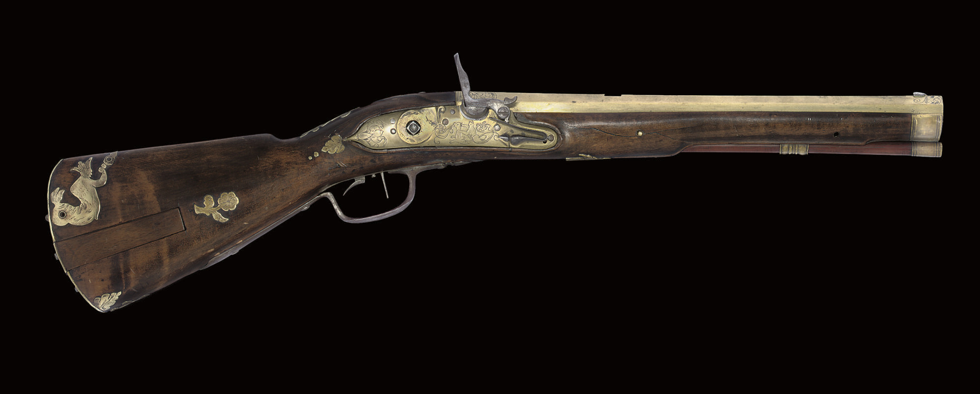 A GERMAN SMALL FLINTLOCK RIFLE