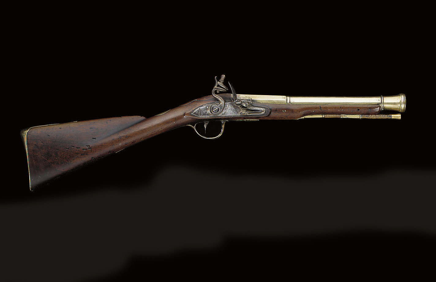 A FLINTLOCK BLUNDERBUSS BY J.