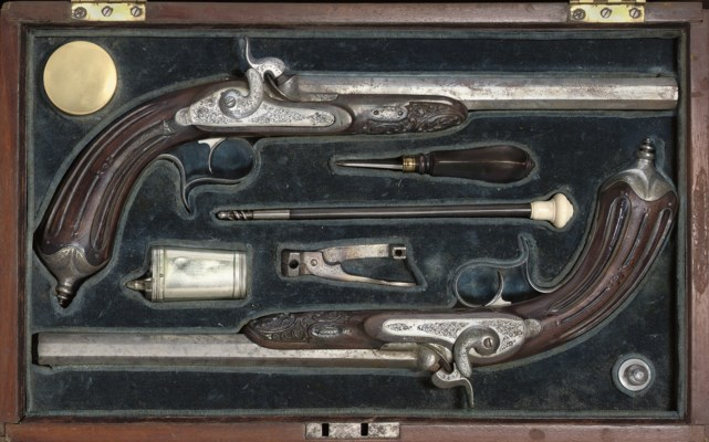 A CONTINENTAL CASED PAIR OF PE