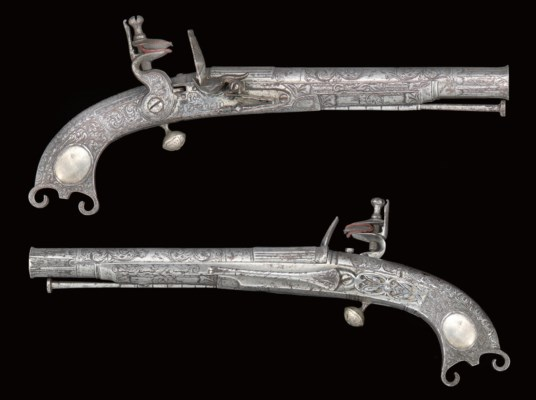 A PAIR OF SCOTTISH ALL-METAL F