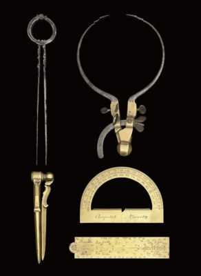 Five drawing instruments