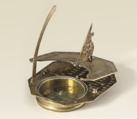 A gilt-brass French inclining