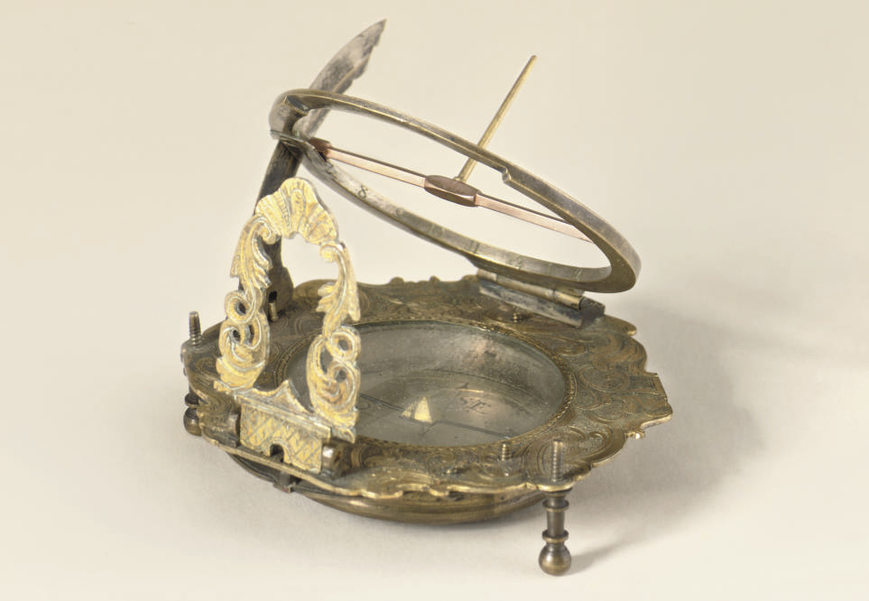 A German brass Augsburg dial