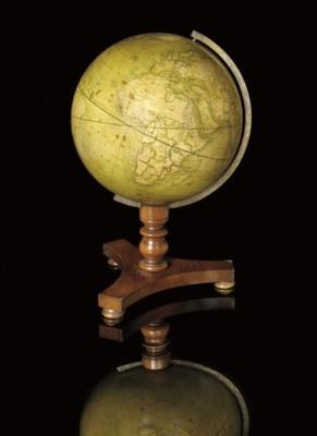 A 10-inch terrestrial globe