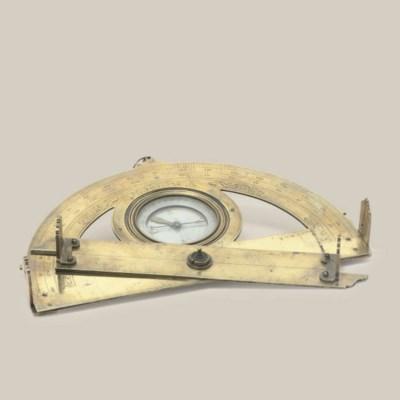 A brass German graphometer