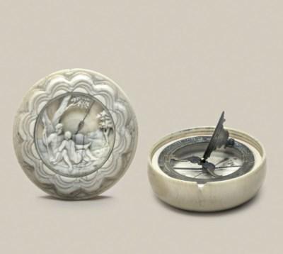 A decorative compass dial