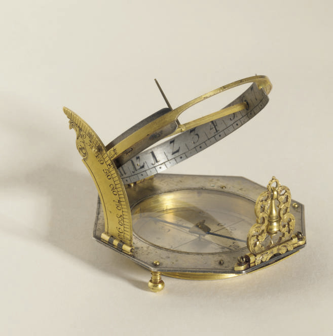 A silver and gilt-brass German