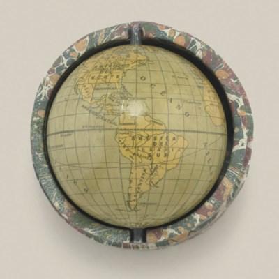 A 3-inch Spanish pocket globe