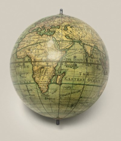 A 3-inch pocket globe