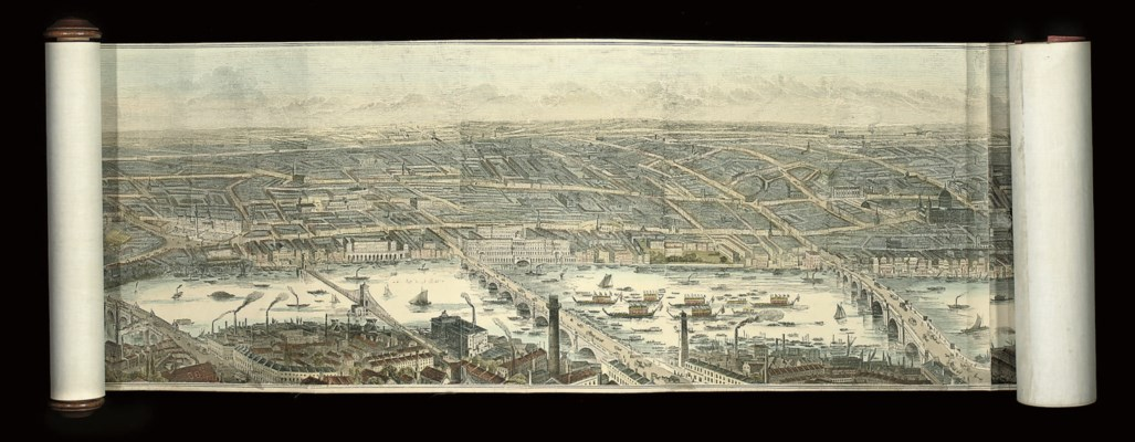 Panorama of London and the Riv