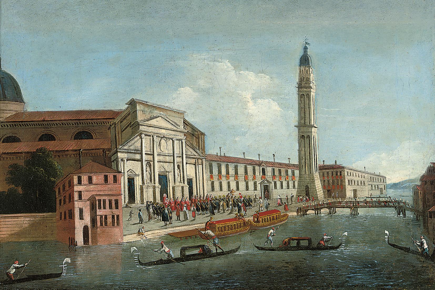 The church of San Pietro di Castello, Venice, with the arrival of the Patriarch