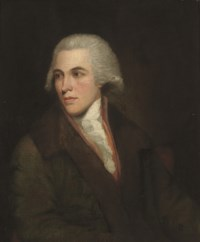 Portrait of a gentleman, half-length, in a brown coat