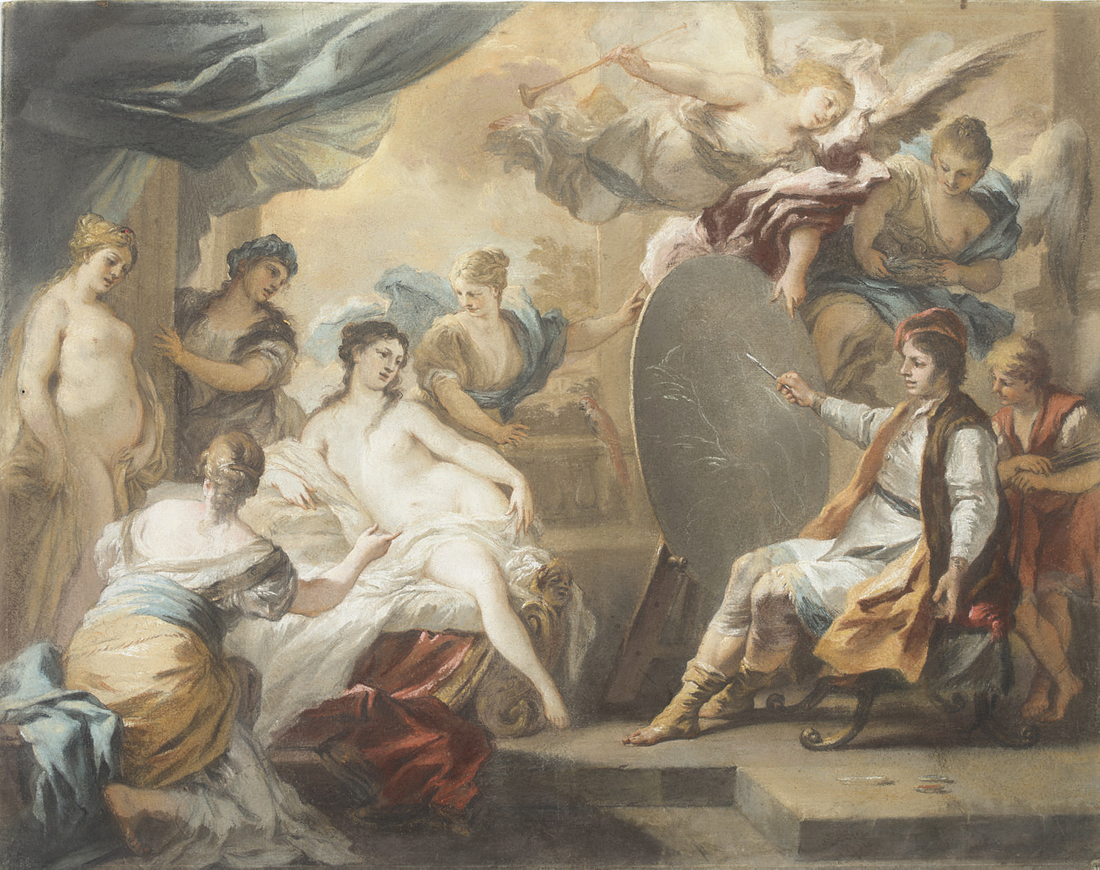 Zeuxis painting Helena, after Solimena