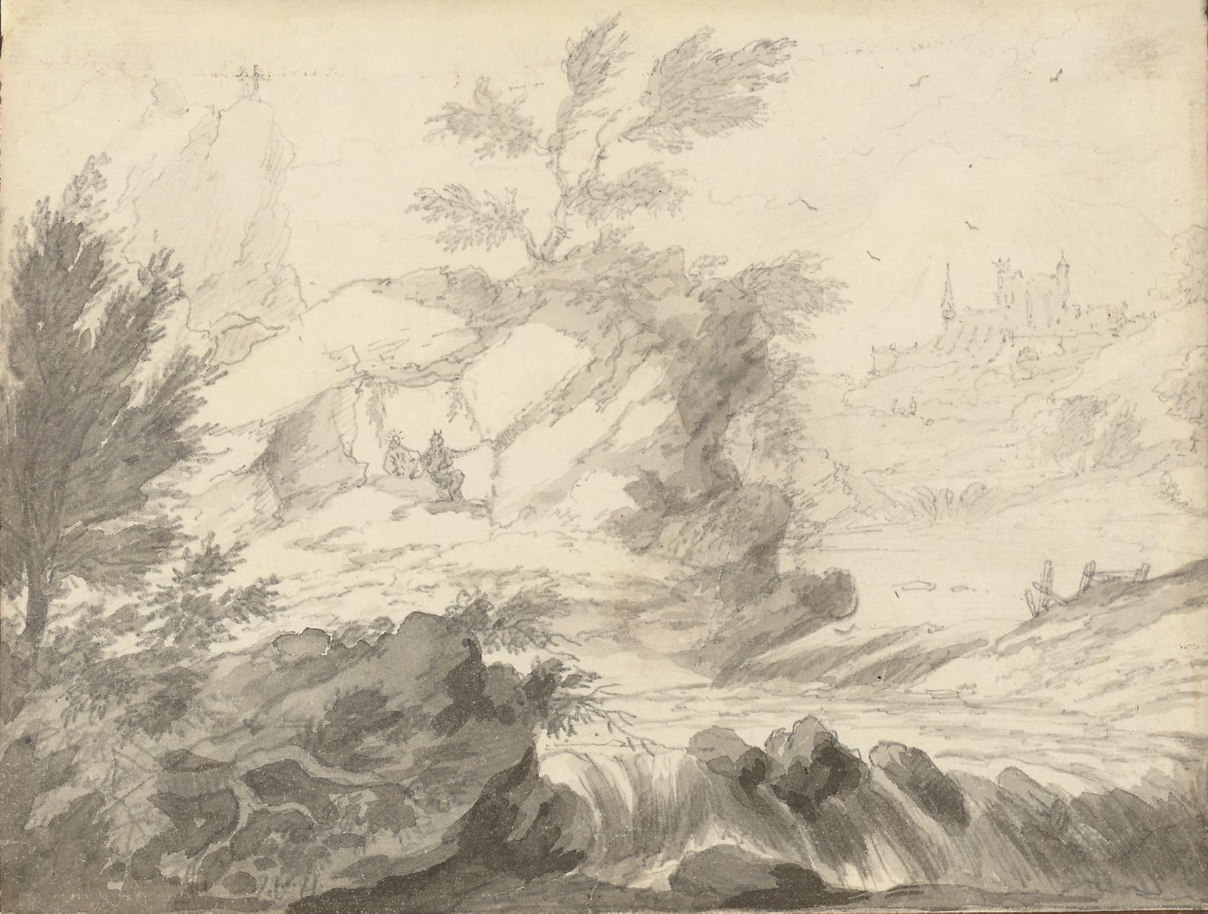 A rocky river landscape
