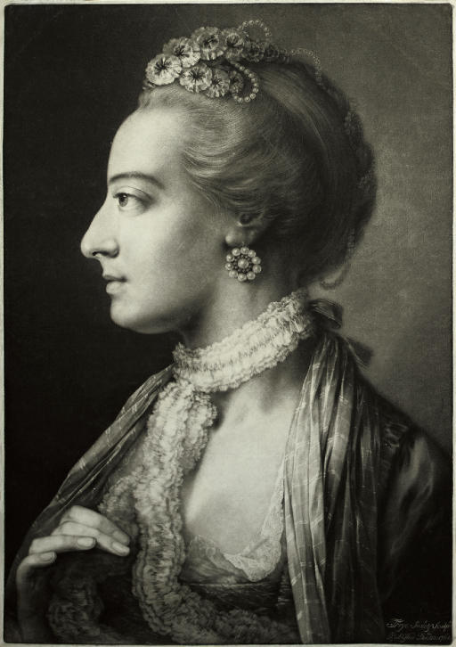 A Fashionable Lady, in profile to the left, from Life-sized Heads, second series