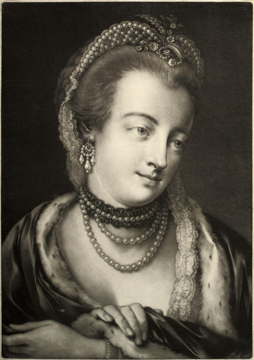A Fashionable Lady with her right hand on left wrist, from Life-sized Heads, second series