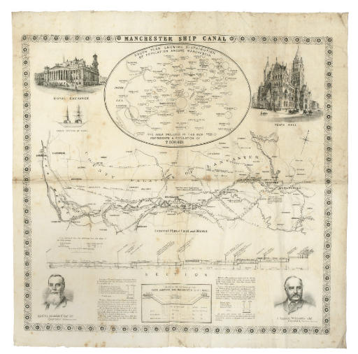 A MAP OF MANCHESTER SHIP CANAL
