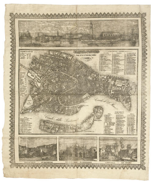 PLAN OF VENICE 1859 BY G SEIFF