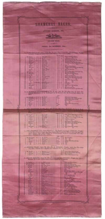 THE SHANGHAI RACES AUTUMN 1865