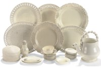 A COLLECTION OF STAFFORDSHIRE PLAIN CREAMWARE