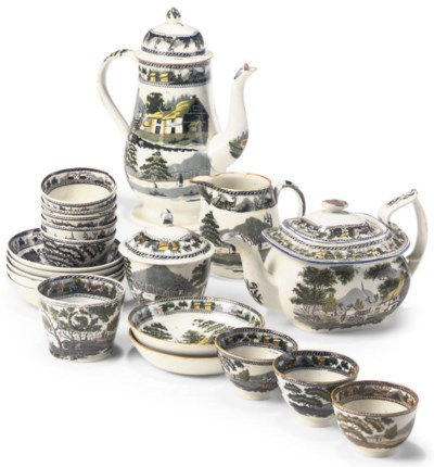 AN ENGLISH PEARLWARE COMPOSITE
