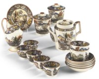 A SHORTHOSE COMPOSITE PART TEA SERVICE