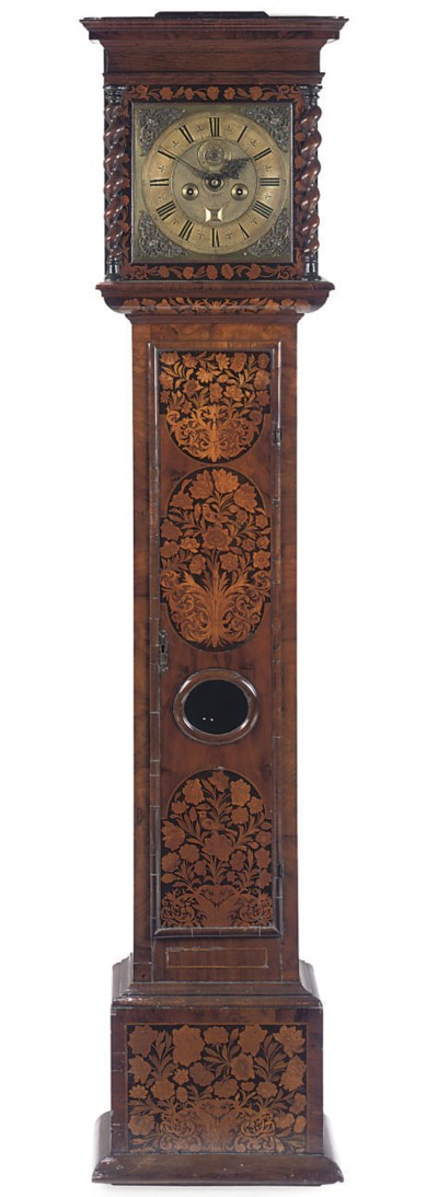 A WILLIAM III FLORAL MARQUETRY